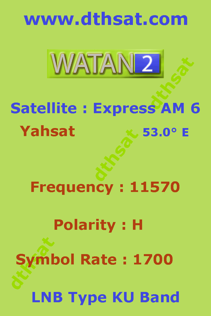 Watan-TV-Frequency